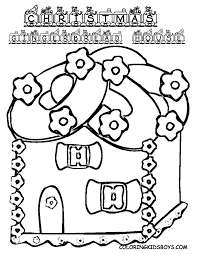 Christmas Gingerbread House Colouring De Image At YesColoring
