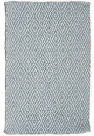 eco cotton rug light blue and white hook loom