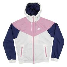 nike windrunner jacket white orchid binary blue mens clothing