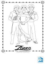 Coloriage Chronique De Zorro