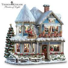 Thomas Kinkade Christmas Tree Cottage by Thomas Kinkade Twas The Night Before Christmas Collectible Story House