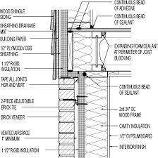 Wall Section Wood Shingle Siding Above Brick Veneer 1 2