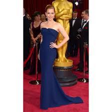 Evening Dresses Red Carpet by Adams Navy Strapless Evening Dress 2014 Oscar Awards Red Carpet
