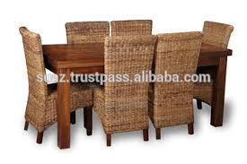 Cane Dining Table Living Room Furniture Custom Bamboo
