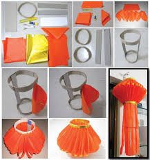 Easy And Simple Diwali Craft Tutorial Step By On Diy Throughout Paper Ideas For Decoration