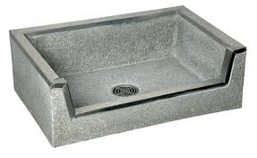 Mop Sink With Drop Front Terrazzo Stainless Steel Curb Bowl Size 20