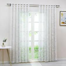 gardine ausbrenner ranken muster wohnzimmer vorhang