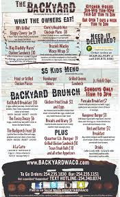 Full Menu – The Backyard Backyard Bbq Menu Ideas For Glorious Party Backyard Burger Hours 28 Images Richmond Ky Fries Sides Back Yard Burgers Whiskeyvillage Gometburgers Fancyburgers Best Of Burger Architecturenice Celebrates Th Anniversary By Fighting Image On Lunch Steamer Seafood Opening Today B2 Brews The 25 Best Ideas On Pinterest Barbecue Complete Menus Jimmys Taphouse