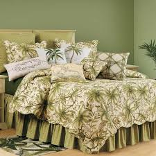 Queen Size Bed With Palm Tree Bedding Tropical Palm Tree Bedroom