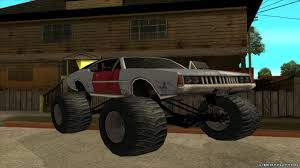 Replacement Of Monster.txd In GTA San Andreas (52 File) Grand Theft Auto San Andreas Review Gamesradar Subaru Legacy 1992 Monster Truck Gta Ford F350 Super Duty For Burrito Monster Sound New Handling Gta5modscom Nissan Skyline R32 4 Door Stretch Blue Thunder E250 By Pumbars Egoretz Gta Mods Maximum Destruction Infernus