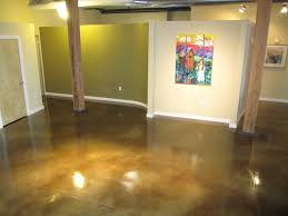 interior concrete floor concrete staining modern living room