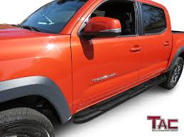 Amazon.com: TAC Side Steps Fit 2005-2018 Toyota Tacoma Double Cab ...