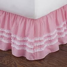 Amazon Levtex Home Ruched Bed Skirt Full Pink Home & Kitchen