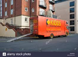 Kidds Removal Van Parked Outside Apartments Stock Photo: 112435948 ...