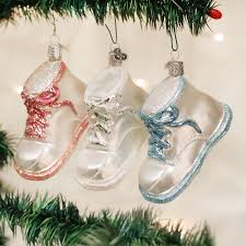 Baby Shoe Ornament Old World Christmas 1each Assorted Red