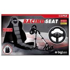 siege volant pc volant racing seat 2 bigben pour ps3 ps2 et pc accessoire