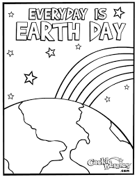 Free Earth Day Coloring Pages 1