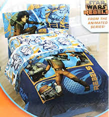amazon com star wars full comforter clone wars space bedding