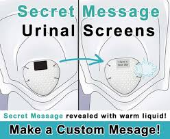Floor Mounted Urinal Screen by Custom Secret Message Deodorizing Urinal Screen 72 Pack Drain