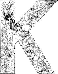 Click To See Printable Version Of Letter K With Animals Coloring Page