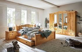 schlafzimmer 4teilig inga kiefer massiv gelaugt geölt landhaus casade mobila