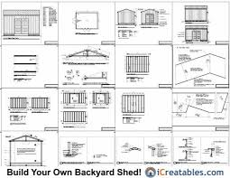12x16 Storage Shed Plans by Zone Plans