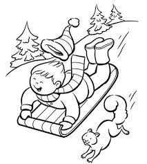 Winter Coloring Pag Awesome Winter Coloring Pages For Kids