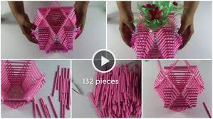 How To Make Flower Vase Using Paper Rolls