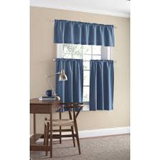Walmart Mainstay Sheer Curtains by Mainstays Microfiber Tier Curtain Set Walmart Com