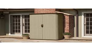 Rubbermaid Slide Lid Shed Manual by Suncast Bms4500 Large Vertical Storage Shed Youtube