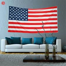 American Flag Wall Hanging Aliexpress Buy Home Decor Tapestry Red Usa