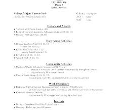 Applicant Resume Sample College Admission Of Application It Student