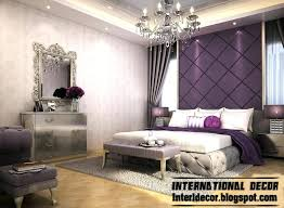 Contemporary Bedroom Design And Purple Wall Decoration Ideas Decorating