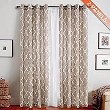 Moroccan Tile Curtain Panels by Amazon Com Suo Ai Textile Quatro Suede Metallic Print Darkening