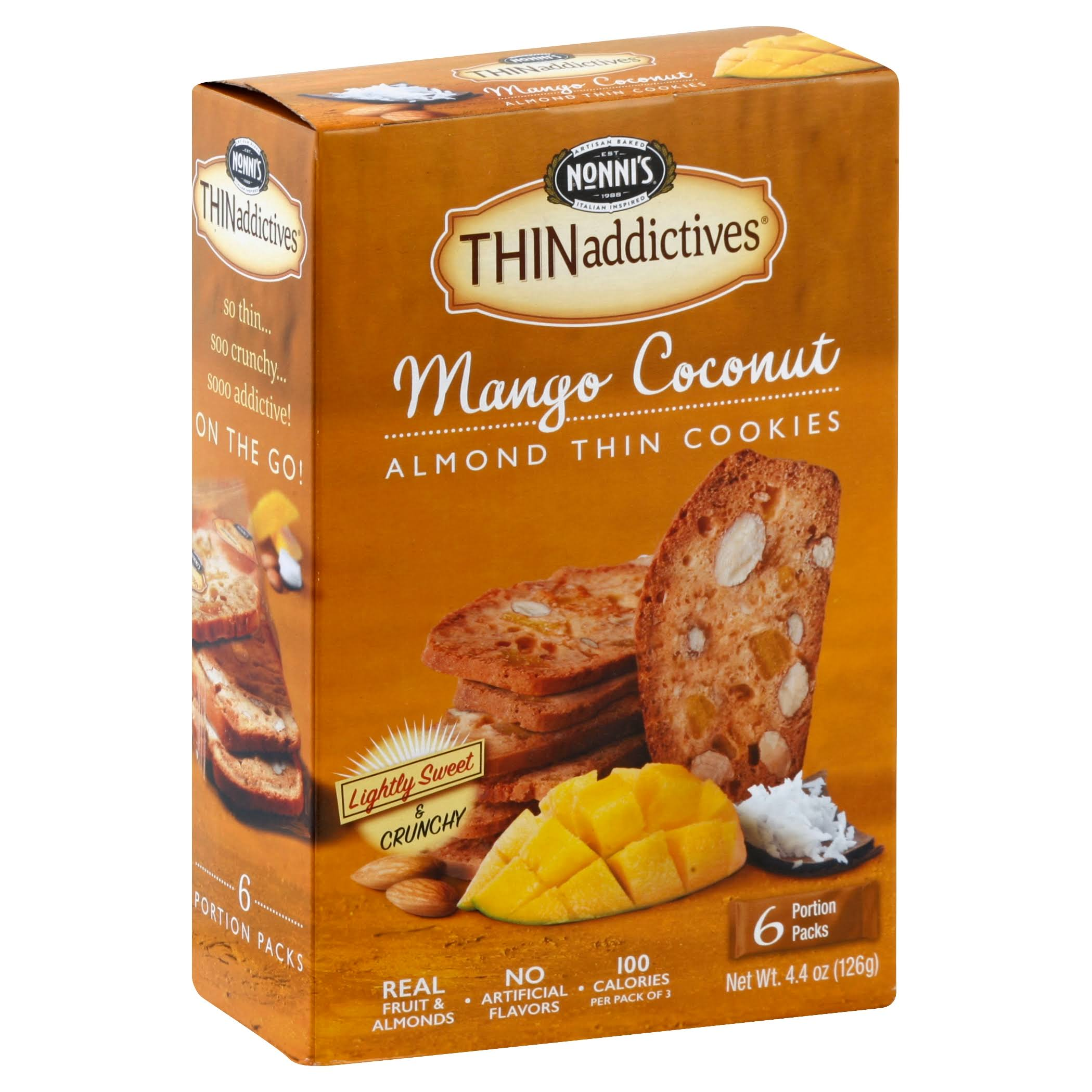 Nonni's Thinaddictives Thin Cookies - Mango Coconut Almond, 4.5oz