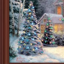 Thomas Kinkade Christmas Tree Village by Amazon Com Thomas Kinkade Victorian Family Christmas Illuminated