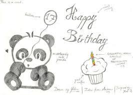 Panda Birthday Card by KaydeeYaleni