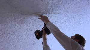 Patching Popcorn Ceiling Paint by Back Loose Plaster Render Or Re Plaster Render Whole Ceiling