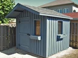 Keter Woodland High Storage Shed by 10x10 High Board And Batten With One Shingle Door And Two Windows