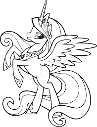 My Little Pony Princess Celestia Coloring Pages Book Page Color