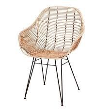 designstuhl viggo echt rattan natur moderner rattan stuhl