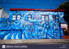 Balmy Alley Murals Mission District by Street Mexican Mural Mission District San Francisco California