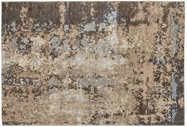 casa padrino luxus baumwoll teppich beige braun blau verschiedene größen rechteckiger wohnzimmer teppich mit relief struktur luxus
