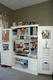 Love The Use Of Pantry Cabinets, Etc To Make A Craft Storage ... Plain Armoire Into Office Space Amazoncom Brown Storage Desk Computer Workstation Style Fascating Ikea Aneboda Wardrobe Closet White South Shore Savannah Collection 4drawer Dresser And Fniture Contemporary Home Idea With Unique Craft Ideas All Home Decor Superb Office Armoire Ikea Design Ideas My Studio Sauder Select Sewing Cart 411615 Harbor View 158097