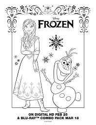 Anna Olaf Coloring Sheet