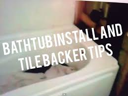 Tiling A Bathtub Lip by Tile Backer Board Installation Crooked Bathroom Hardiebacker