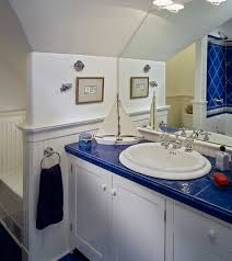 Royal Blue Bathroom Decor by White And Blue Theme Makes For A Perfect Kids Bathroom With