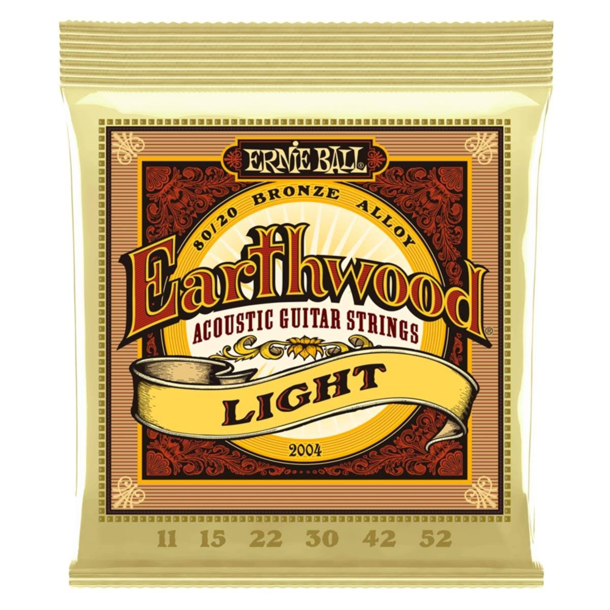 Ernie Ball Earthwood Acoustic Guitar Strings - Light