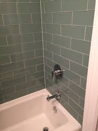seaside 4x12 glass subway tile bathroom contemporary bathroom