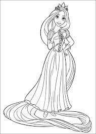 Perfect Coloring Disney Rapunzel Pages To Print For Free Printable Tangled Kids